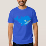Cute Curious Cartoon Dolphin T-Shirt