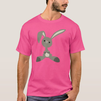 Cute Curious Cartoon Rabbit T-Shirt