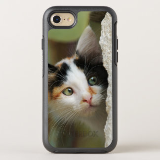 Cute Curious Cat Kitten Prying Eyes -protect-Phone OtterBox Symmetry iPhone 8/7 Case