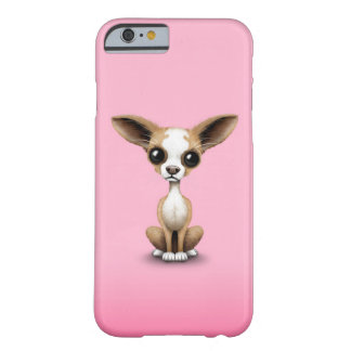 Cute Curious Chihuahua with Large Ears on Pink Barely There iPhone 6 Case