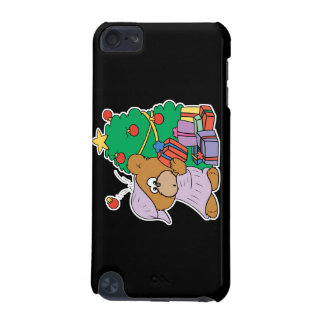 cute curious christmas bear iPod touch 5G case