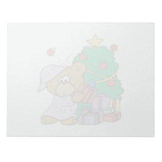 cute curious christmas bear memo notepads