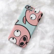 Cute Curious Pigs Barely There iPhone 6 Case