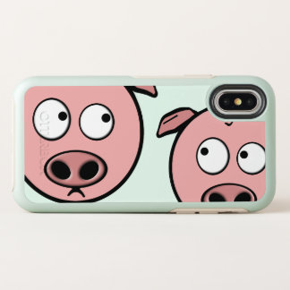Cute Curious Pigs OtterBox Symmetry iPhone X Case