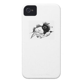 Cute curious sneaky cat kitten graphic Case-Mate iPhone 4 case