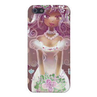 Cute Curly Purple Hair Bride Illustration Cover For iPhone 5