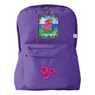 Cute Custom American Apparel™ Backpack, Purple American Apparel™ Backpack