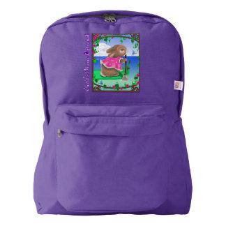 Cute Custom American Apparel™ Backpack, Purple Backpack