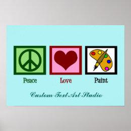 Cute Custom Art Studio Poster