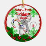 CUTE CUSTOM BABY FIRST CHRISTMAS MOUSE Ornament