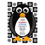 Cute Custom Birthday Party Penguin Invitation