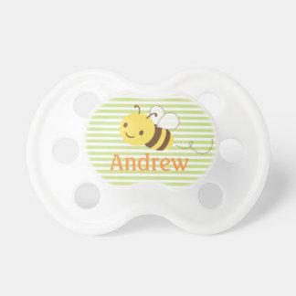 Cute Custom Bumblebee Pacifier w Baby s Name