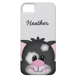 Cute Custom Cat Face iPhone 5 Barely There Case