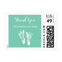 Cute Custom Color Baby Footprints Thank You Postage