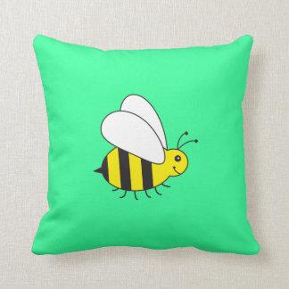 Cute Custom Color Busy Bumble Bee Cartoon Pillow