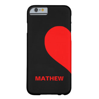 Cute Custom Couple Names Matching Left Heart Barely There iPhone 6 Case
