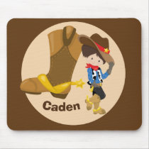 Cute Custom Cowboy Kids Mouse Pad