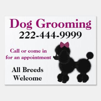 Cute Custom Dog Groomer Yard Sign
