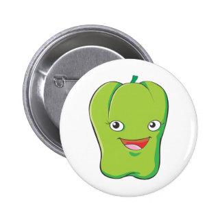 Cute Custom Green Bell Pepper Shirts 2 Inch Round Button