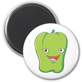 Cute Custom Green Bell Pepper Shirts 2 Inch Round Magnet