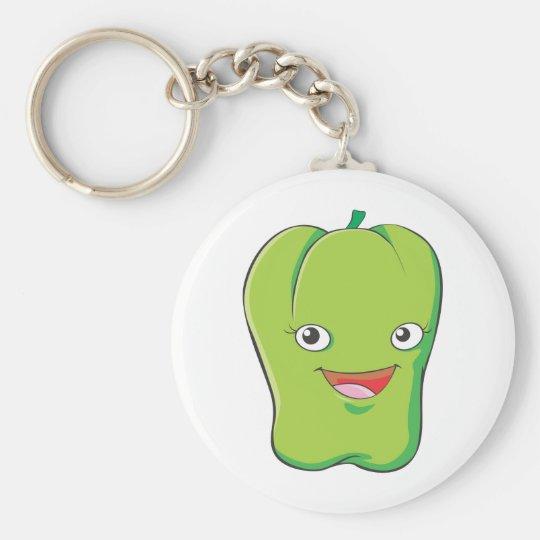 Cute Custom Green Bell Pepper Shirts Keychain