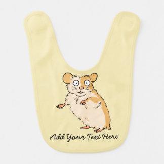 Cute Custom Hamster Graphic Baby Bib