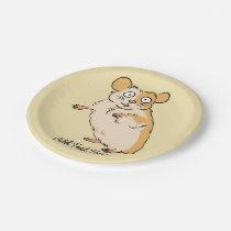 Cute Custom Hamster Graphic Paper Plate