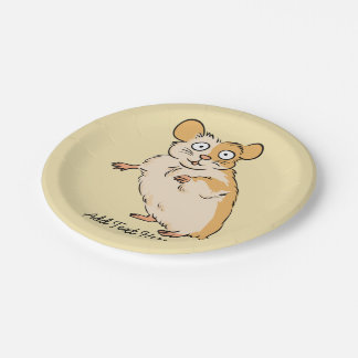 Cute Custom Hamster Graphic Paper Plate