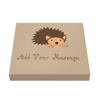 Cute Custom Hedgehog Nursery Wrapped Canvas Canvas Print