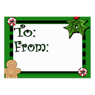 Cute Custom Holiday Gift Tag Large Business Cards (Pack Of 100)