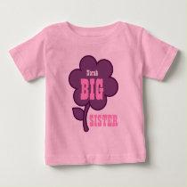 Cute Custom Name BIG SISTER Purple Flower V01A Baby T-Shirt