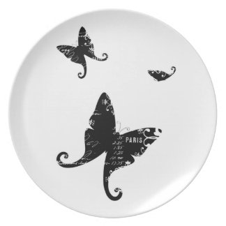 Cute Custom Pate Design Dinner Plates