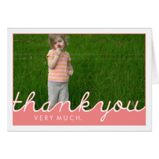 Cute Custom Picture Thank You Note Cards | Pink