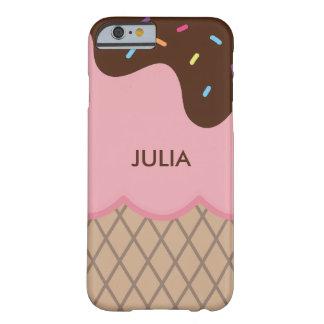 Cute Custom Pink Ice Cream + Text iPhone 6 Case