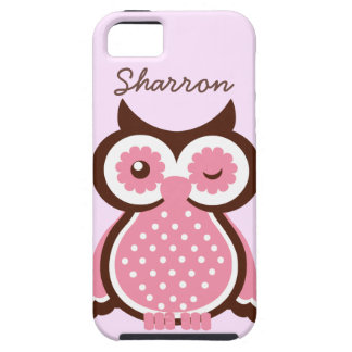 Cute Custom Pink Owl iPhone 5 Vibe Case