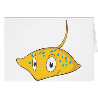 Cute Custom Stingray Cartoon Shirt Card