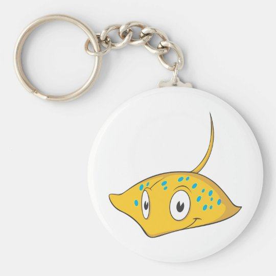 Cute Custom Stingray Cartoon Shirt Keychain