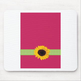 Cute Custom Sunflower Monogram Gifts Mouse Pad