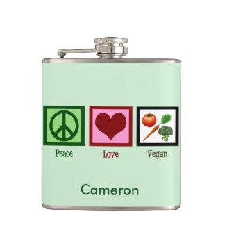 Cute Custom Vegan Green Flask