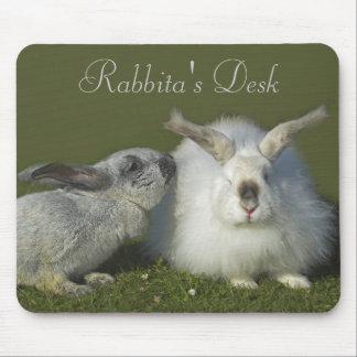 Cute Customizable Angora Rabbit Mousepad