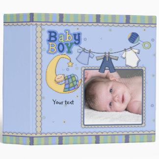 Cute customizable Baby Boy design 3 Ring Binder