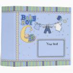 Cute customizable Baby Boy design Vinyl Binder