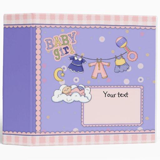 Cute customizable Baby Girl design Binders