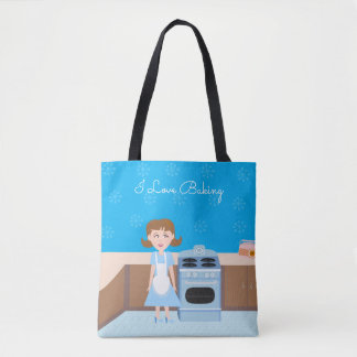 Cute Customizable Baker Tote Bag
