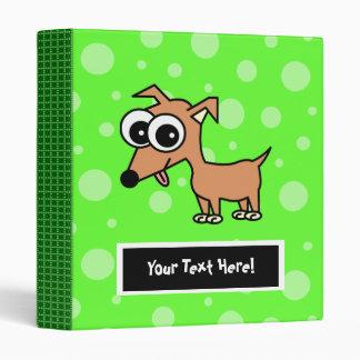 Cute Customizable Chihuahua Binder - Green