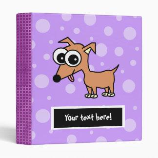 Cute Customizable Chihuahua Binder - Purple