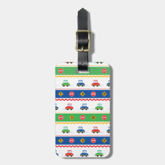 Cute Customizable Colorful Cartoon Cars Bag Tag