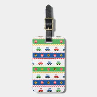 Cute Customizable Colorful Cartoon Cars Travel Bag Tags