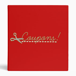 Cute Customizable Coupon Binder