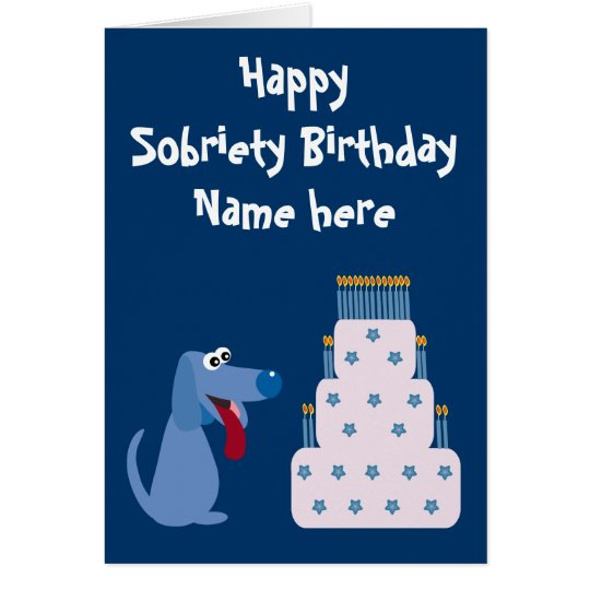 Cute customizable dog cake sobriety birthday card zazzle cute customizable dog cake sobriety birthday card bookmarktalkfo Choice Image